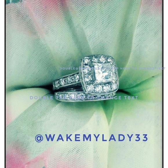 c1a9e52c8 Jewelry | 14kt White Gold Princess Cut Bridal Set 170ct | Poshmark